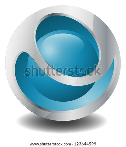 ball blue - stock vector