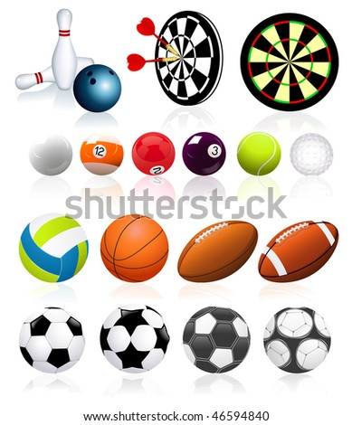 Ball collection,  vector illustration - stock vector