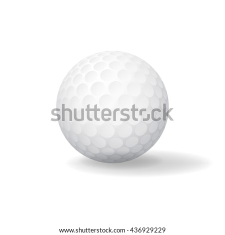 Ball for Golf. Golfball icon. Game symbol - stock vector