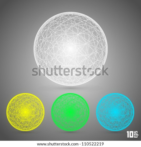 ball from web - stock vector