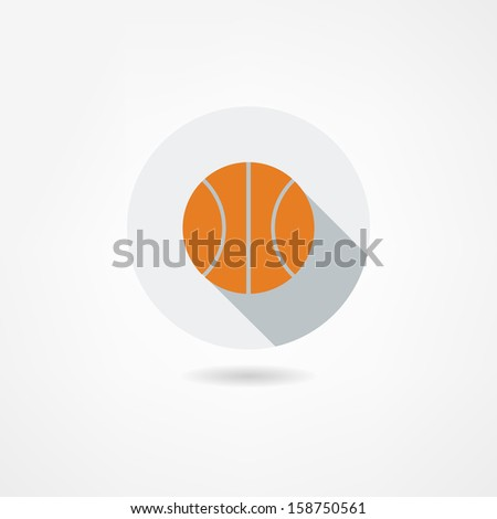 ball icon - stock vector