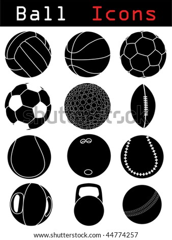 Ball Icons - stock vector