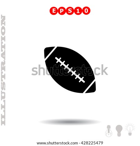 Ball of american Football icon. Simple black vector symbol. Logo for web. Image for business. - stock vector