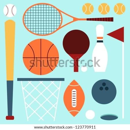 Ball Sports - stock vector