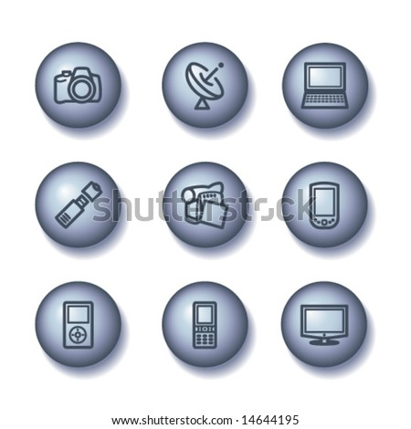 Ball web icons, set 16