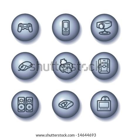 Ball web icons, set 21 - stock vector