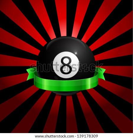 Ball With Ribbon Vector Illustration - stock vector