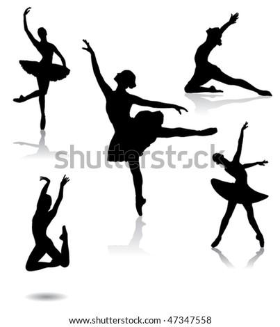 ballet dancer - stock vector