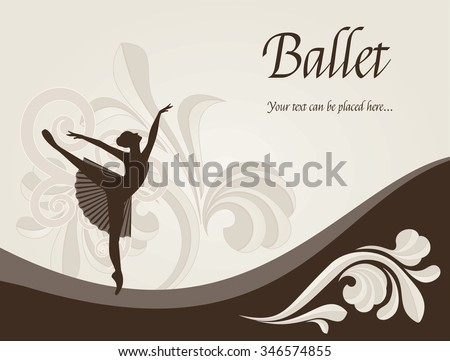 Ballet Dancer - Illustration with copy space.  - stock vector
