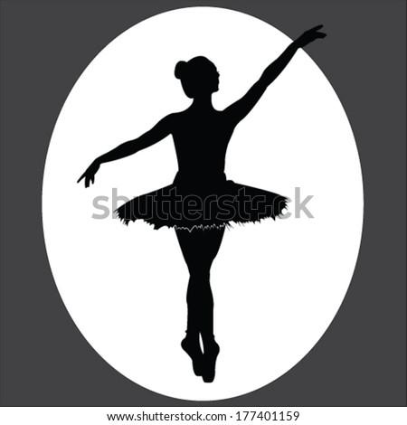 Ballet Dancer Vector Illustration - stock vector