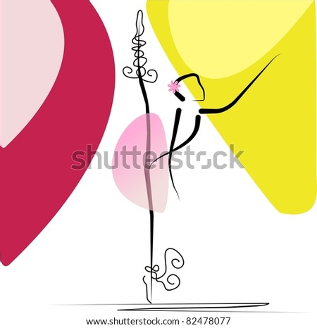 Ballet girl - stock vector