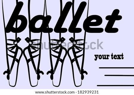 Ballet shoes, illustration  - stock vector