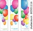 balloon background banner - stock vector