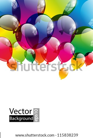 Balloon background with place for text - stock vector
