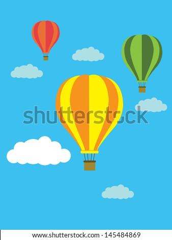 balloon blackground vector - stock vector