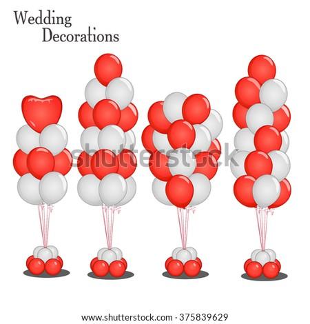 Event Decoration Balloon Wedding Party Birthday Stock Vector