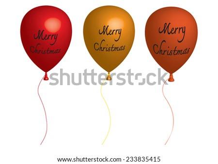 Balloon 3D  - Vector illustration - stock vector