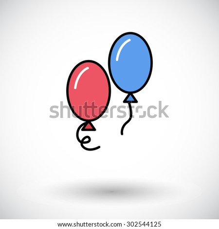 Balloon icon. Flat vector related icon for web and mobile applications. It can be used as - logo, pictogram, icon, infographic element. Vector Illustration.