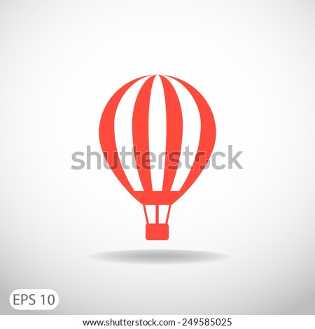 balloon journey, web icon. vector design - stock vector