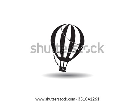 balloon journey, web icon. vector design