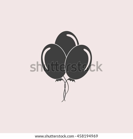 Balloon web icon. Isolated illustration