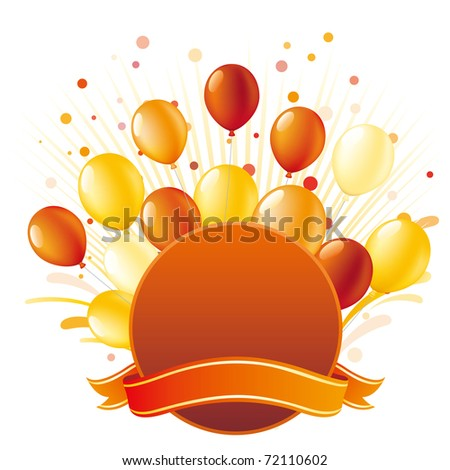 balloon with holiday celebration background - stock vector