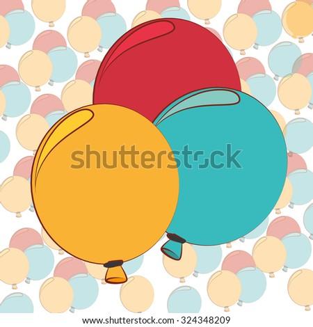balloons air deco design, vector illustration eps10 graphic  - stock vector