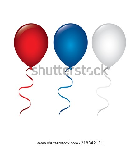 balloons air graphic design , vector illustration - stock vector