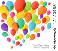 Balloons Background, vector illustration - stock vector