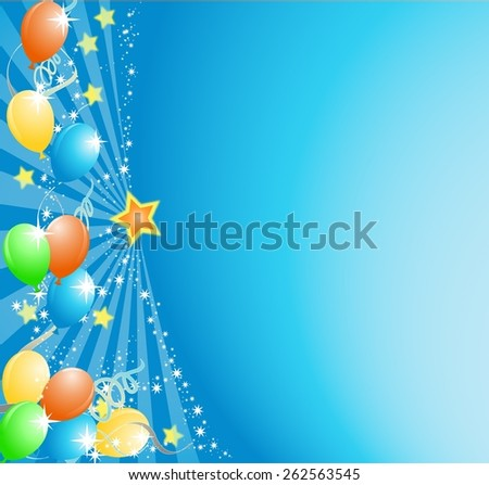 Balloons festival background - stock vector