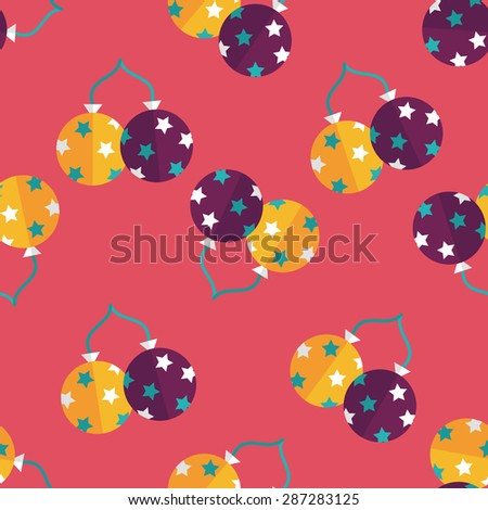 balloons flat icon,eps10 seamless pattern background - stock vector