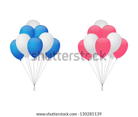 Balloons for boy and girl - stock vector