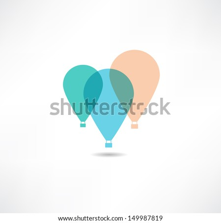 Balloons icon - stock vector