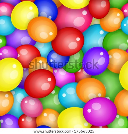 Balloons seamless pattern background - stock vector