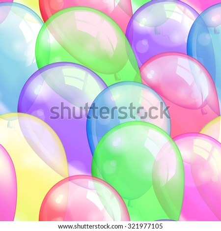 Balloons seamless pattern background, beautiful colorful illustration, eps10. Vector - stock vector