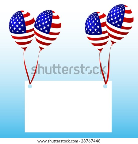 balloons with message - stock vector