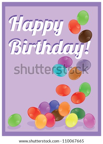 balloons with the words happy birthday - stock vector