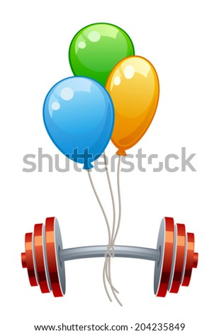 Balloons with weight - stock vector