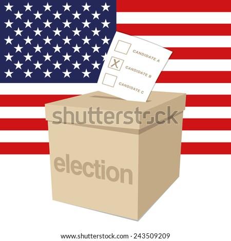 Ballot Box for a US election - stock vector