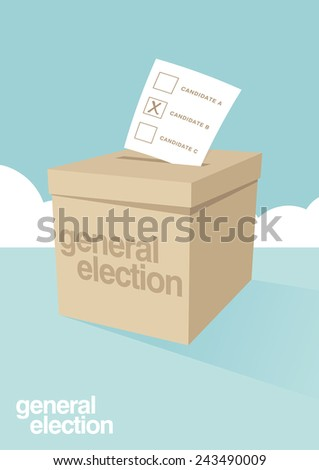 Ballot Box for an election  - stock vector