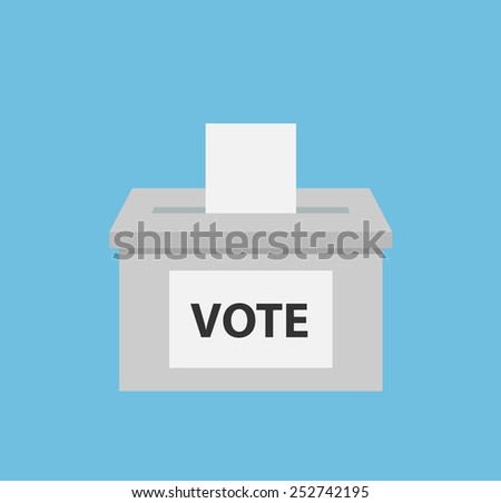 Ballot box or vote box. Flat style - stock vector