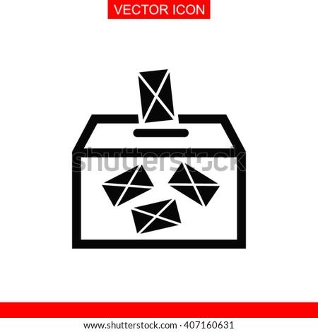 Ballot box vote Icon. Ballot box vote Vector. Ballot box vote Icon Button. Ballot box vote Picture. Ballot box vote Image. Ballot box vote Illustration. Ballot box vote JPEG. Ballot box vote Icon EPS. - stock vector
