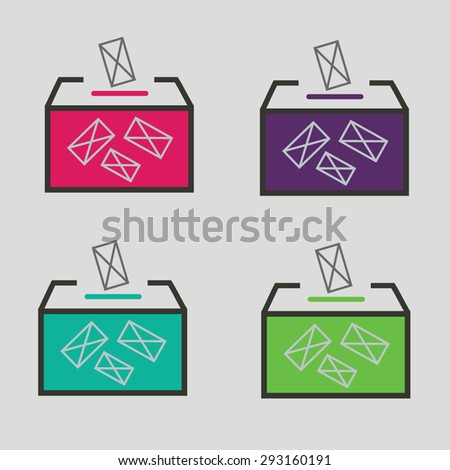ballot box vote,vector icon - stock vector