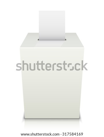 Ballot box with Ballot paper. Illustration on white background - stock vector