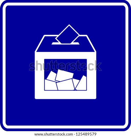 ballot voting box sign - stock vector