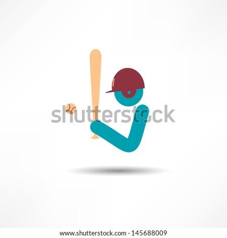 ballplayer - stock vector