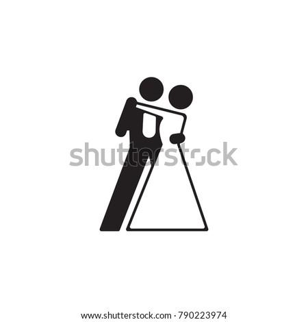 ballroom dancing icon dance elements premium stock vector royalty