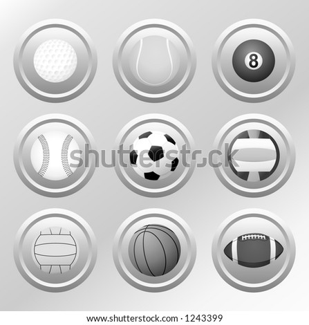 Balls - VECTOR - DESIGN ELEMENTS. (Check out my portfolio for other icons set) - stock vector