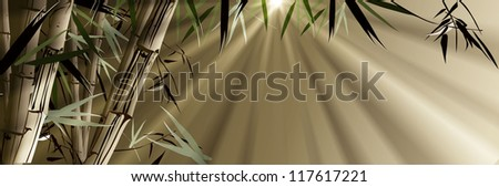 Bamboo (a tropical plant)
