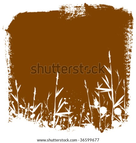 Bamboo background border illustration